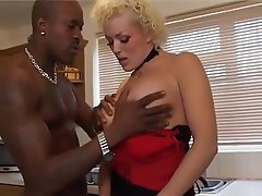 Blonde, British, Cumshot, Interracial, Stockings