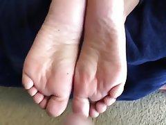 Amateur, Cumshot, Foot Fetish, Footjob