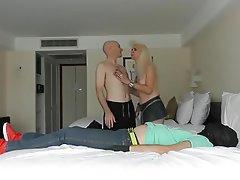 Handjob, Femdom, Cuckold, Kissing
