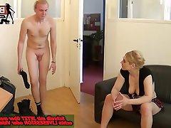 Amateur, BDSM, Femdom, German, Footjob