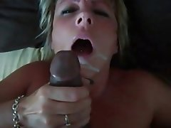 Wife with cum mature