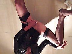 Amateur, MILF, Stockings, Orgasm