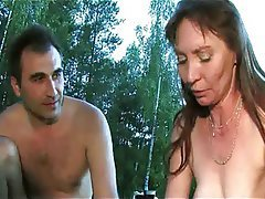 Group Sex, Mature, MILF, Outdoor, Russian