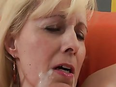 Blonde, Granny, Interracial, Mature