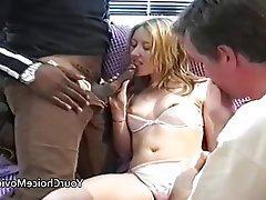 Amateur, British, Creampie, Interracial, Threesome